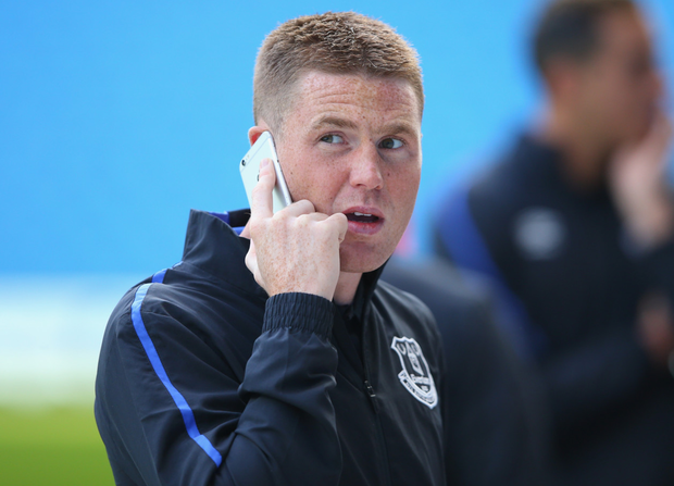 Everton and Ireland midfielder James McCarthy might be paying particular attention to his phone during the January transfer window. Photo: Alex Livesey/Getty Images