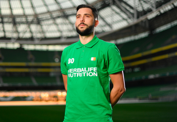 Shamrock Rovers star David Webster took part in a Sports Nutrition panel discussion, hosted in the Aviva Stadium, by global nutrition company Herbalife who offer a range of WADA approved sports performance products. Photo: Ramsey Cardy/Sportsfile