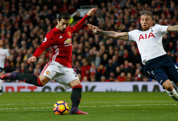 Manchester United midfielder Henrikh Mkhitaryan fires his side into the lead in yesterday's win over Spurs