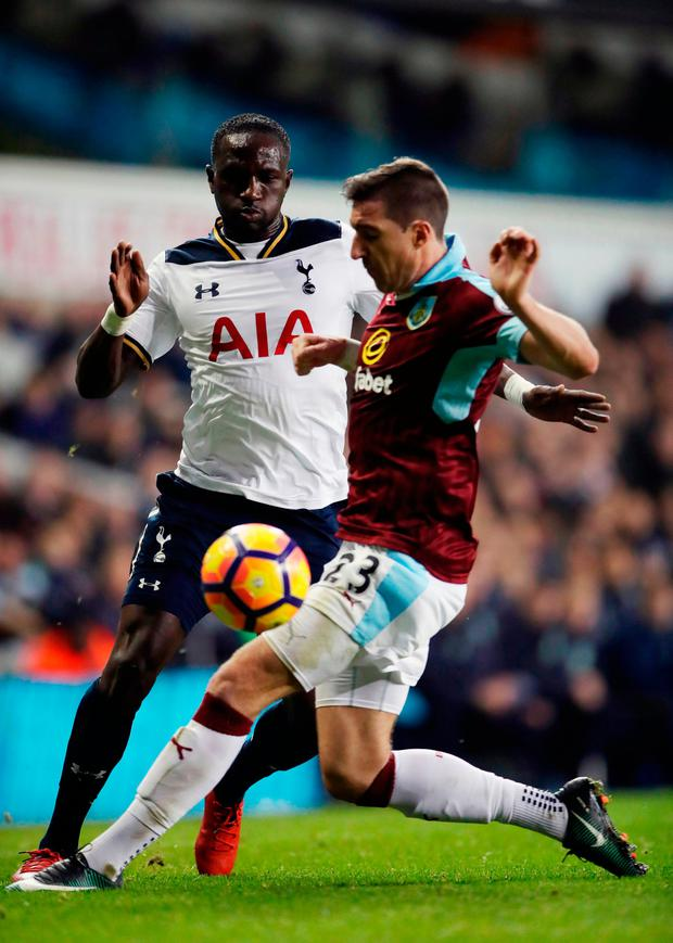 Tottenham's Moussa Sissoko (left) and Burnley's Stephen Ward Photo: PA