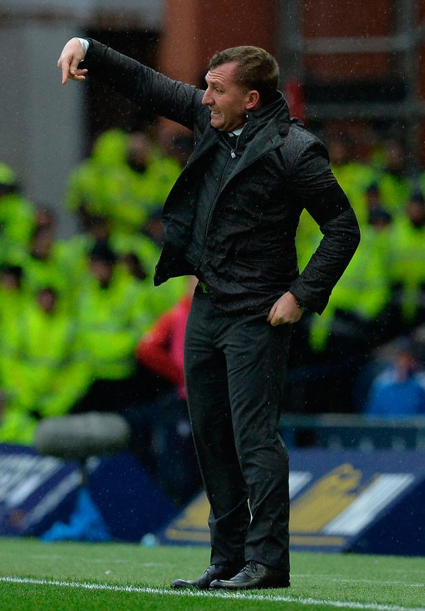 Celtic manager Brendan Rodgers, pictured during Saturday's win over Rangers at Ibrox.