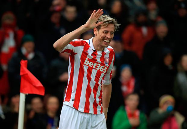 Stoke's Peter Crouch. Pic: PA