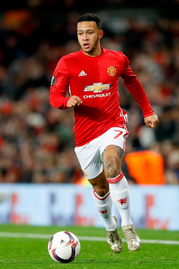 Depay has struggled to tie down a first-team spot at United since a £25million move from PSV Eindhoven in the summer of 2015 and looks set to be on his way out of Old Trafford. Pic: PA