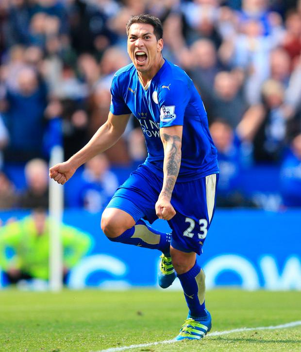 Leonardo Ulloa. Photo: Mike Egerton/PA Wire