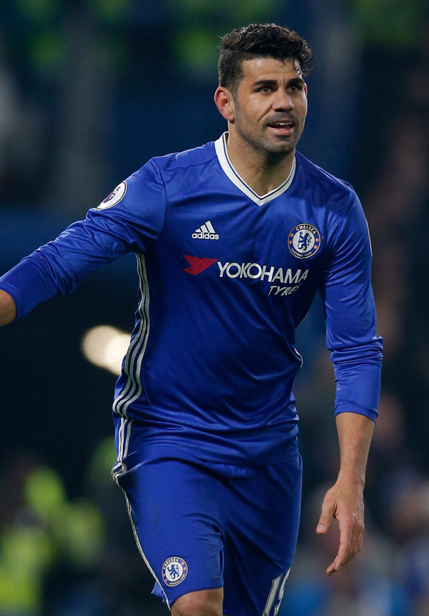 Chelsea striker Diego Costa faces Brentford tomorrow