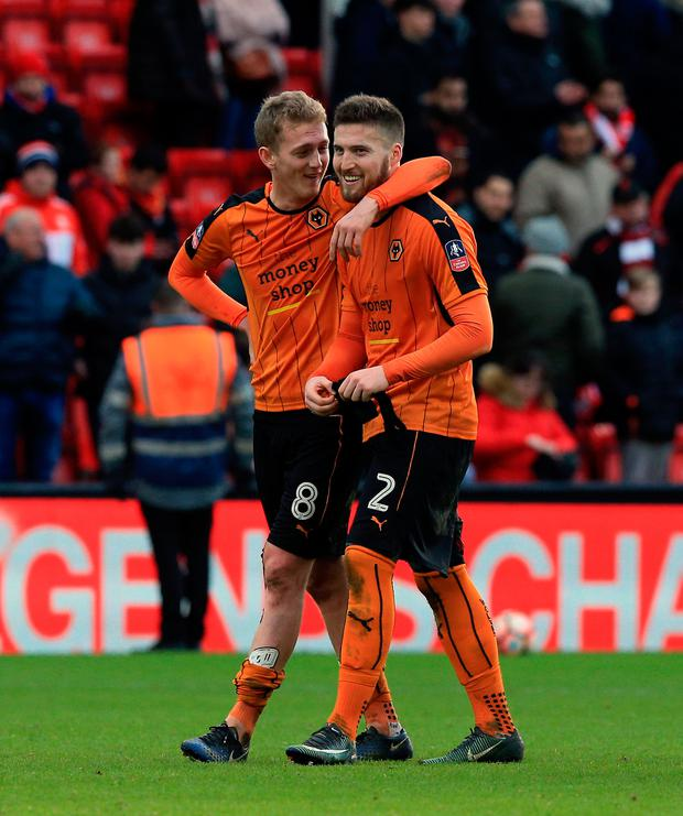 Wolves pair George Saville (left) and Matt Doherty