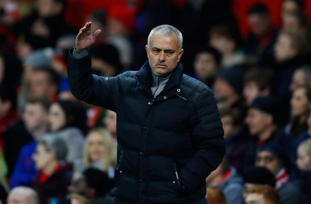 Manchester United manager Jose Mourinho had a point in his cutting remarks about Antonio Conte's lauded style of play. Photo: Jason Cairnduff/Action Images via Reuters