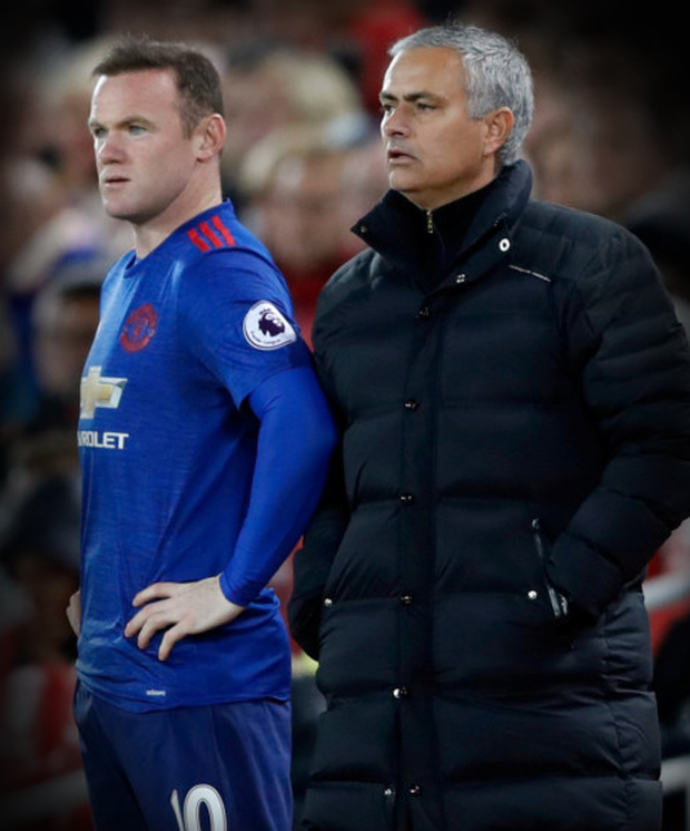 (l-r) Manchester United captain Wayne Rooney insists manager Jose Mourinho demands high standards at Old Trafford
