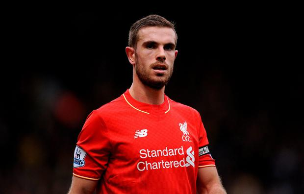 Jordan Henderson. Photo: Andrew Matthews/PA Wire