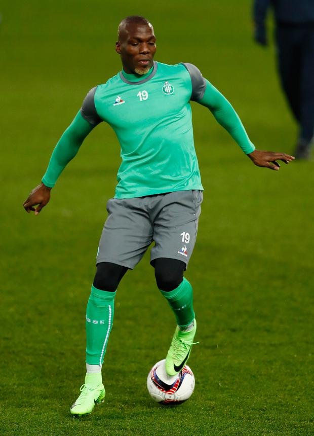 Florentin Pogba trains with St Etienne at Old Trafford