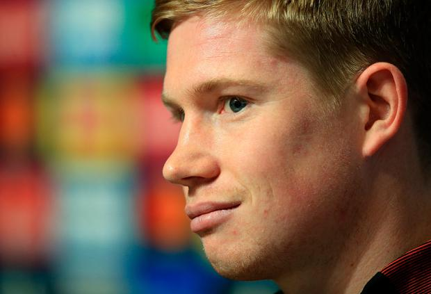 Manchester City's Kevin De Bruyne. Photo: Getty