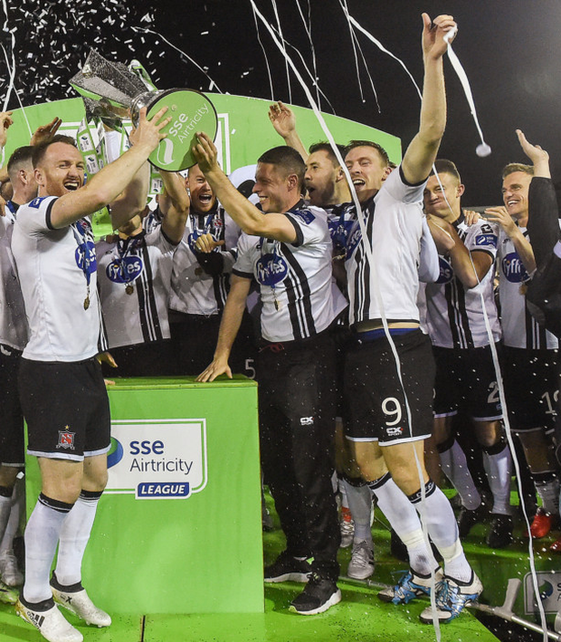 Dundalk, pictured here retaining their SSE Airtricity League Premier Division title, were at the forefront of a stable league last season. Pic: Sportsfile