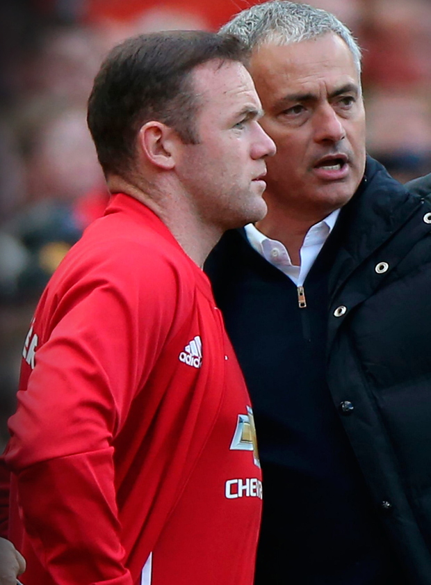 Wayne Rooney and Jose Mourinho. Photo: Scott Heppell/AFP/Getty Images