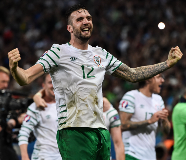 Ireland manager Martin O'Neill has bemoaned the loss of Shane Duffy (p), claiming he might have to call on the services of John O'Shea for the crunch clash with Wales on Friday week. Photo: Sportsfile