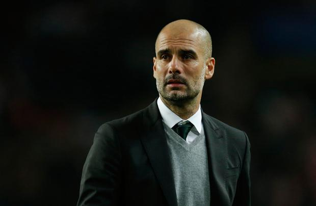 Manchester City boss Pep Guardiola. REUTERS