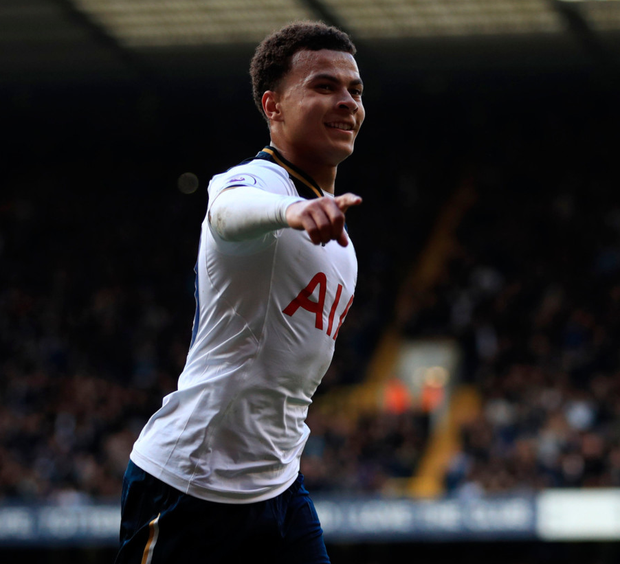 Tottenham Hotspur's Dele Alli celebrates scoring his side's second goal