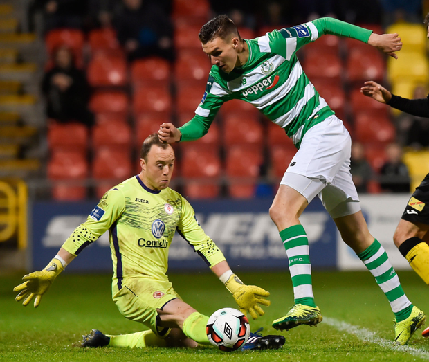 Shamrock Rovers' Sean Boyd (right). Photo: Sportsfile