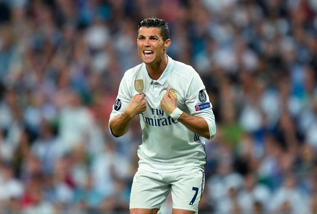 Real Madrid's Cristiano Ronaldo, pictured during Tuesday night's win over Bayern Munich. Pic: Getty Images