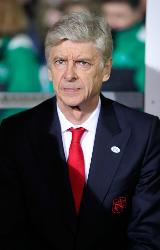 Arsene Wenger. Photo: Andrew Matthews/PA Wire
