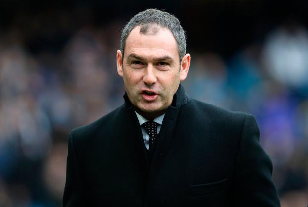 Swansea's Paul Clement. Pic: PA