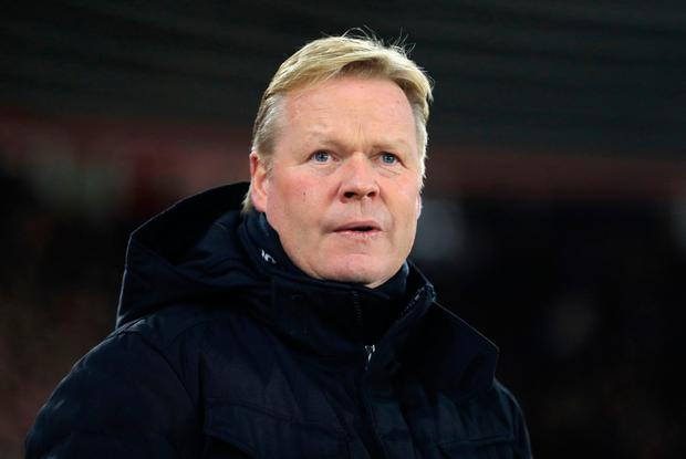 Everton manager Ronald Koeman Picture: PA