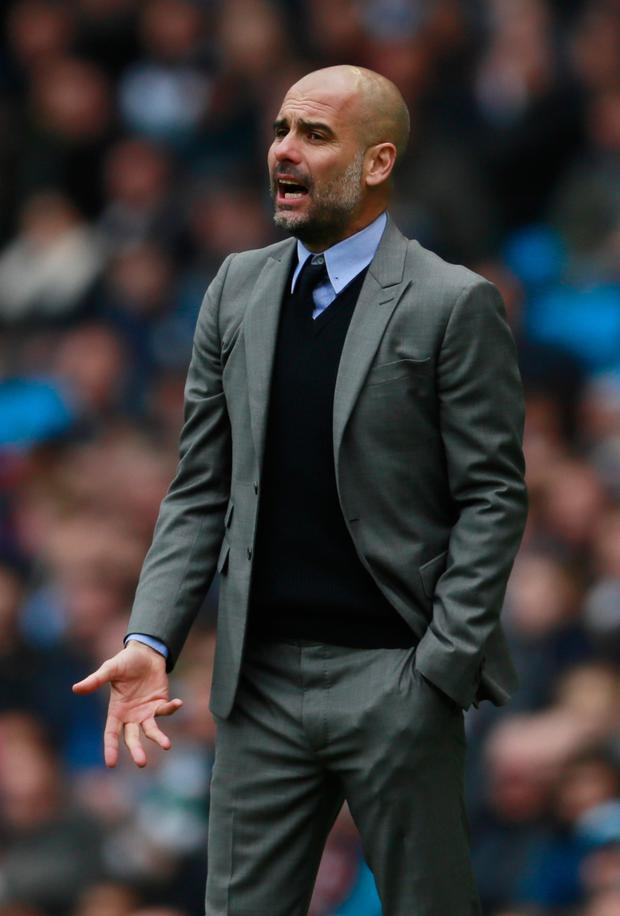 City boss Pep Guardiola. Photo: REUTERS