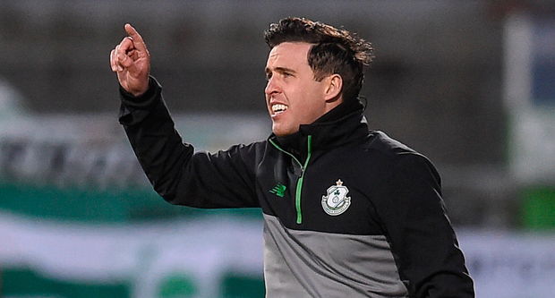 Shamrock Rovers boss Stephen Bradley has challenged his side to aim for second spot in the Premier Division. Photo: SPORTSFILE