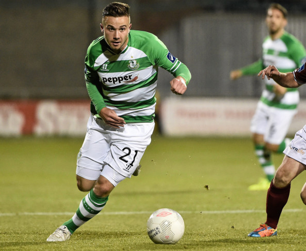 Mikey Drennan, pictured in action for Shamrock Rovers last season. Photo: Sportsfile