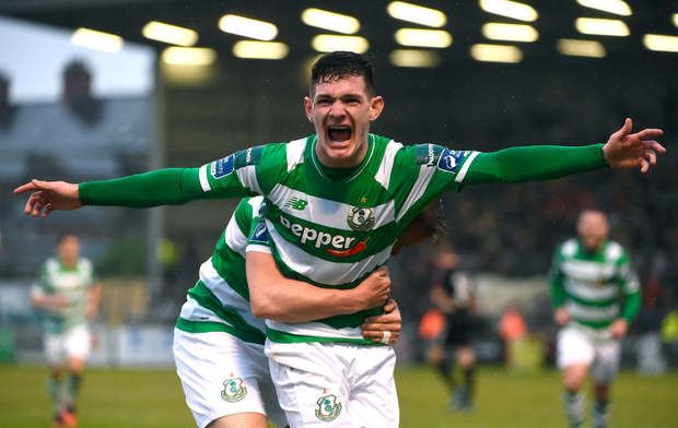 Trevor Clarke celebrates his goal against Bohemians