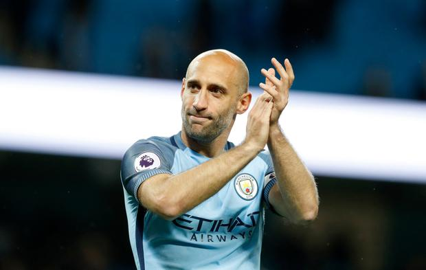 Pablo Zabaleta. Photo: Martin Rickett/PA Wire