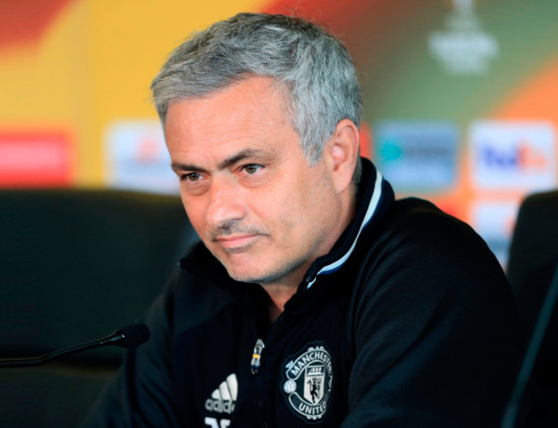 Manchester United manager Jose Mourinho, pictured at a press conference yesterday ahead of tomorrow's final Premier League game of the season against Crystal Palace at Old Trafford