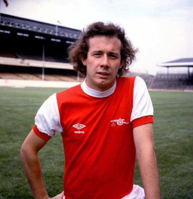 Liam Brady during his playing days at Arsenal
