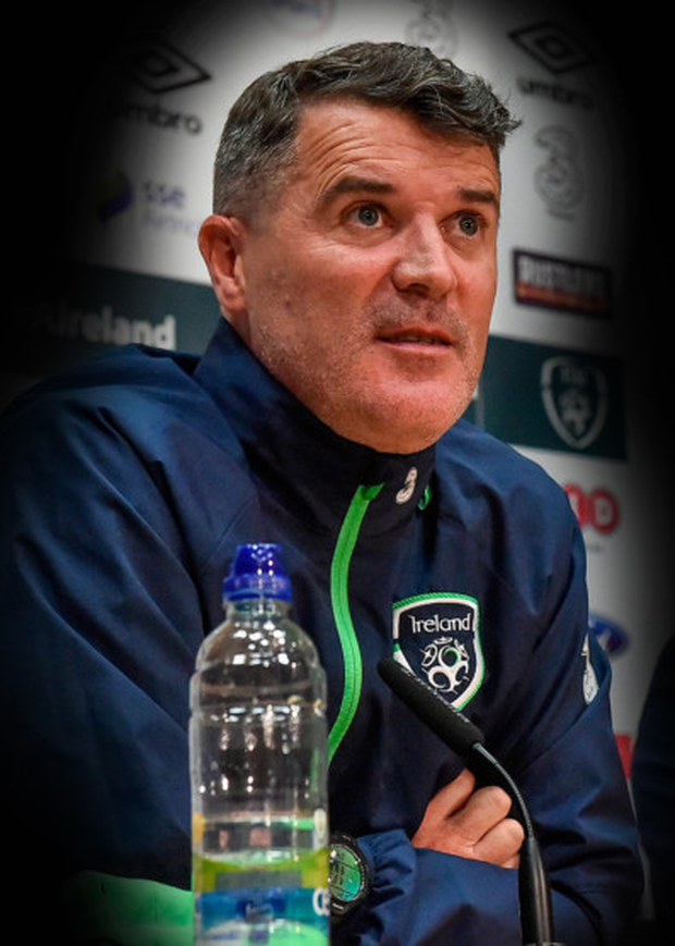 Ireland assistant coach Roy Keane fields questions from the media at Abbotstown. Pic: Sportsfile