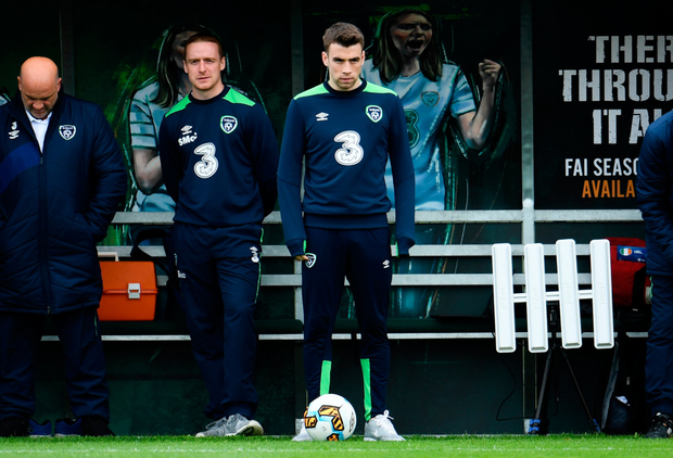 Ireland captain Seamus Coleman, pictured here in Dublin before the recent World Cup qualifier against Austria, has refused to set a date on his return to action following a broken leg. SPORTSFILE