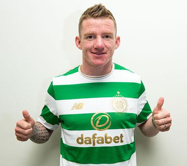 Ireland midfielder Jonny Hayes is pictured after signing his three-year Celtic deal