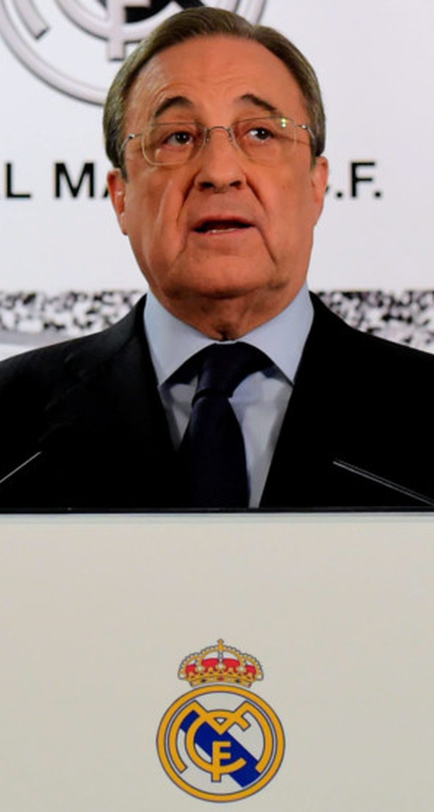 Real Madrid president Florentino Perez. Photo: AFP