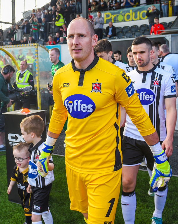 Gary Rogers of Dundalk. Pic: Sportsfile