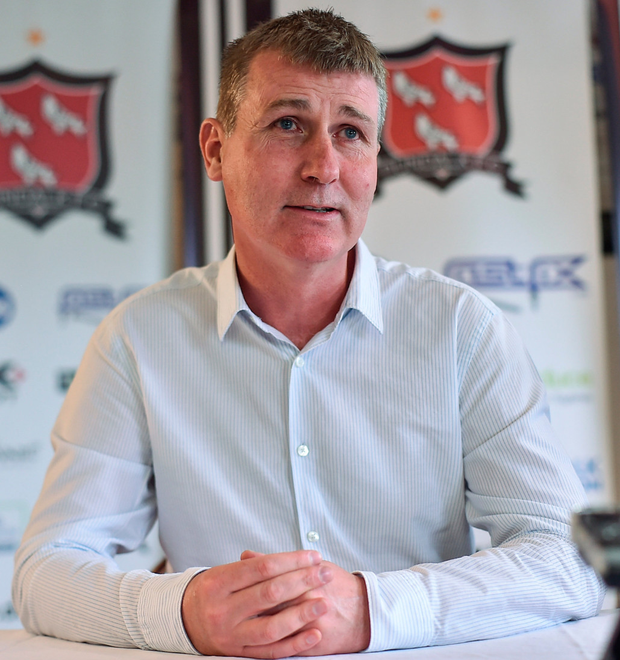 Manager of Dundalk Stephen Kenny during a press conference at Oriel Park. Photo: Sportsfile