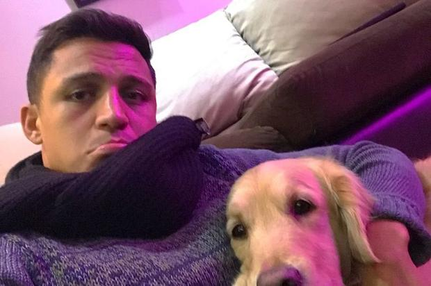 """Sanchez took to Instagram on Friday morning to post a picture of him sat wrapped in a scarf and looking miserable, with the caption """"sick""""."""