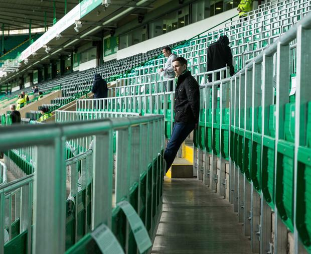 The rail seating area at Celtic's Parkhead ground