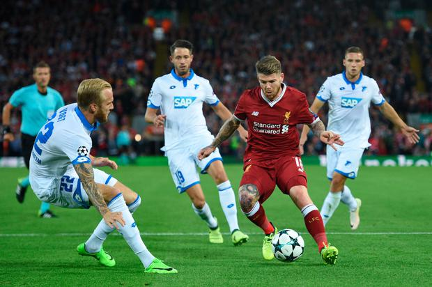 Alberto Moreno in action. Pic: Getty Images