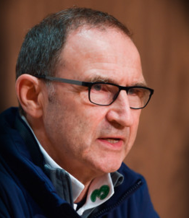 Ireland manager Martin O'Neill speaks during a press conference. Photo: Eóin Noonan/Sportsfile
