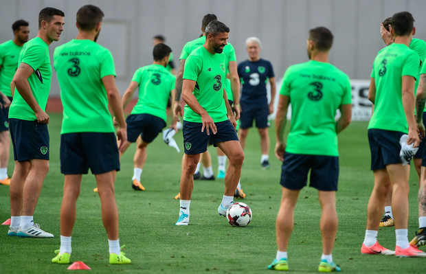 Jon Walters took an active part in training yesterday. Pic: Sportsfile