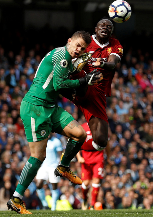 Sadio Mane's challenge on City goalkeeper Ederson