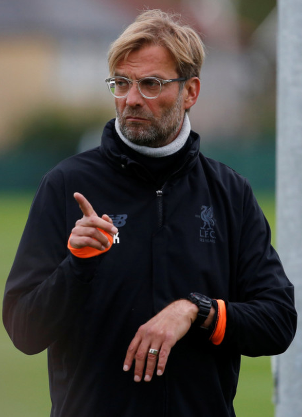 Liverpool manager Jurgen Klopp is pictured in training ahead of tonight's Champions League clash with Sevilla. Photo: Reuters