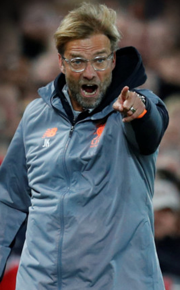 Liverpool manager Jurgen Klopp gestures during Wednesday night's 2-2 Champions League draw with Sevilla at Anfield.