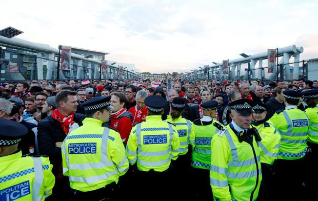 Over 20,000 Cologne fans arrived in London yesterday, despite receiving an allocation of only 2,900 tickets for last night's Europa League clash with Arsenal.
