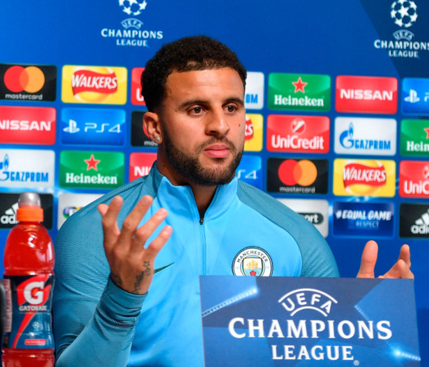 Kyle Walker answers media questions