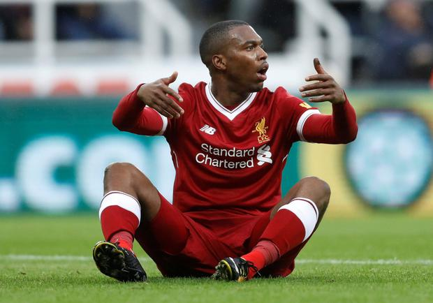 Daniel Sturridge looks disconsolate during Sunday's game at St James' Park. Photo: REUTERS