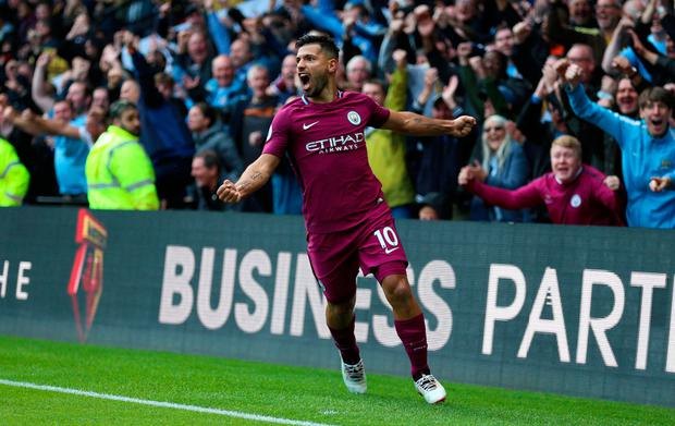 Sergio Aguero could be back for City's clash with Stoke